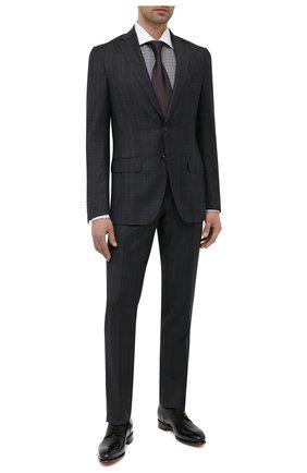 Мужские кожаные дерби SANTONI черного цвета, арт. MCCR17030MC1HVVDN01 | Фото 2