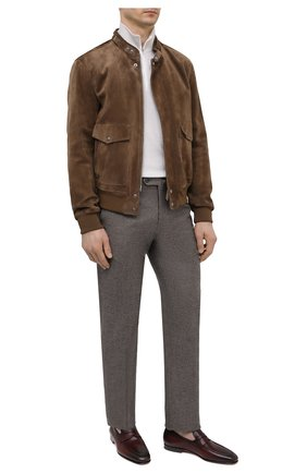 Мужские кожаные пенни-лоферы SANTONI бордового цвета, арт. MCNC15609SA3ESCSQ52 | Фото 2 (Материал внутренний: Натуральная кожа; Стили: Классический; Материал внешний: Кожа)
