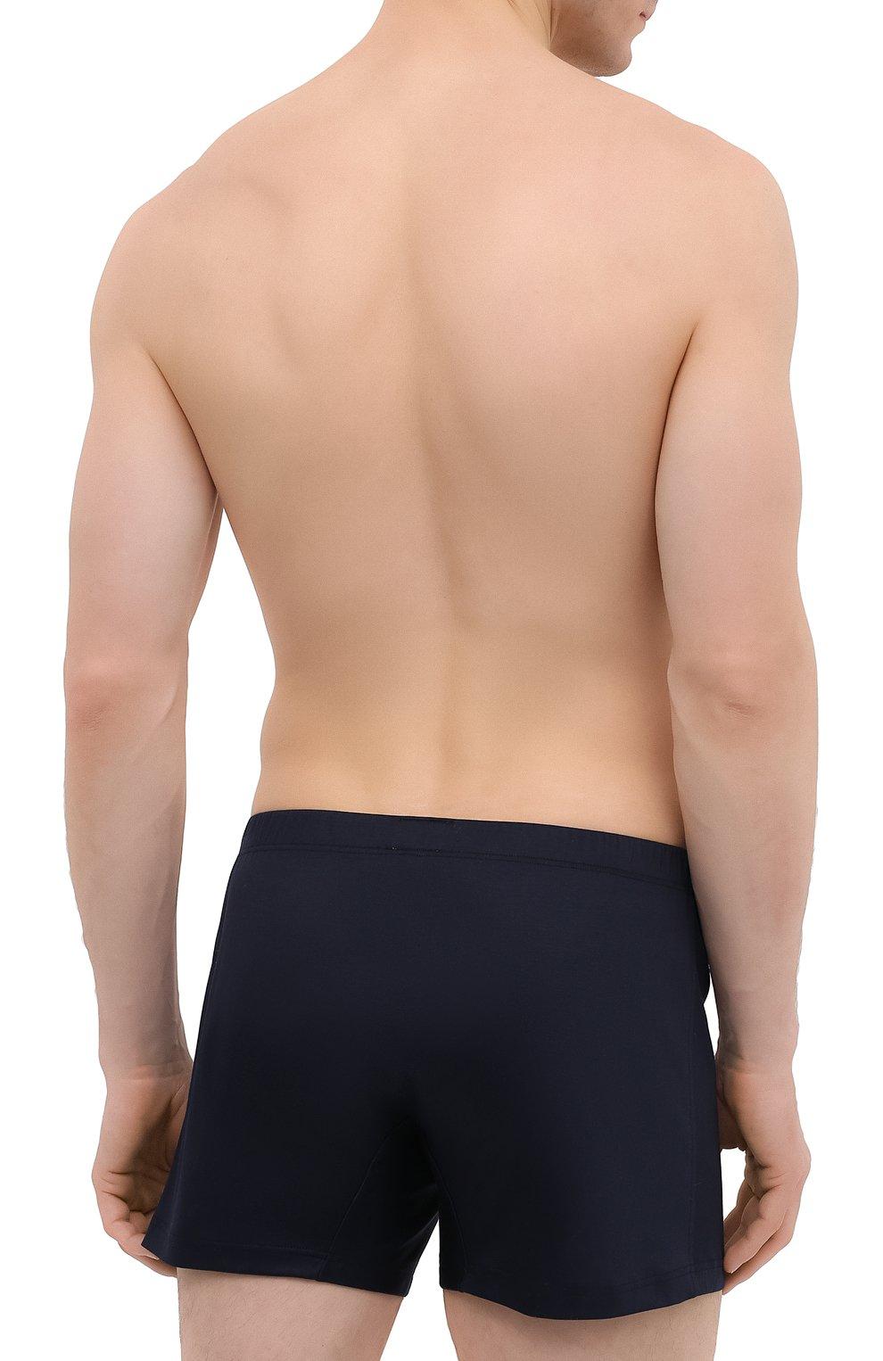 Мужские хлопковые боксеры ZIMMERLI темно-синего цвета, арт. 286-1446 | Фото 3 (Кросс-КТ: бельё; Материал внешний: Хлопок; Мужское Кросс-КТ: Трусы)