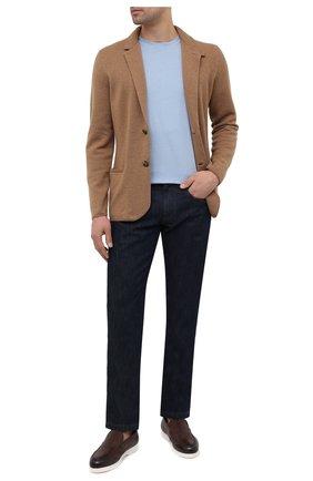 Мужские кожаные лоферы DOUCAL'S коричневого цвета, арт. DU2814ARTHUZ053IM08   Фото 2