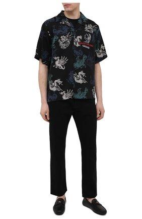 Мужские кожаные мокасины VERSACE черного цвета, арт. DSU7564/DVTX1G | Фото 2