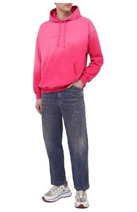 Мужские комбинированные кроссовки trigreca VERSACE белого цвета, арт. DSU8094/D16TCG | Фото 2 (Материал внешний: Текстиль; Материал внутренний: Текстиль; Стили: Гранж; Подошва: Массивная)