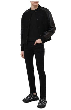 Мужские комбинированные кроссовки trigreca VERSACE черного цвета, арт. DSU8094/D18TCG | Фото 2