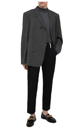 Мужские кожаные лоферы VERSACE черного цвета, арт. DSU8462/D9VAC | Фото 2