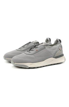 Мужские текстильные кроссовки SANTONI серого цвета, арт. MBI021455BGTCNITG45 | Фото 1 (Стили: Спорт; Материал внутренний: Натуральная кожа; Подошва: Массивная; Материал внешний: Текстиль)