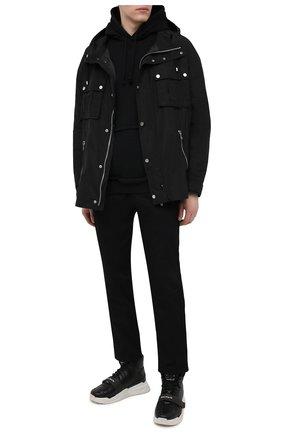 Мужские кожаные кроссовки b-ball BALMAIN черного цвета, арт. VM1C230/LCTW | Фото 2