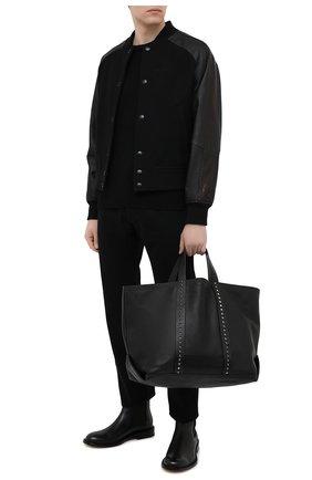 Мужская кожаная сумка-шопер VALENTINO черного цвета, арт. VY2B0A43/SXP   Фото 2