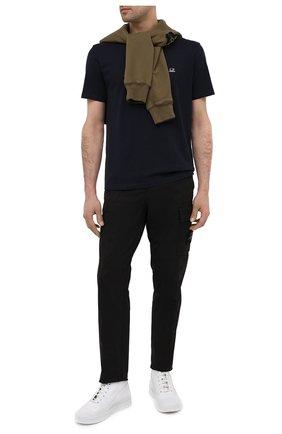 Мужские кожаные кеды STONE ISLAND белого цвета, арт. 7415S0249 | Фото 2