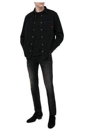 Мужские джинсы DIESEL черного цвета, арт. 00SPW5/0098B | Фото 2
