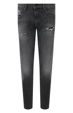 Мужские джинсы DIESEL серого цвета, арт. A01017/009QT | Фото 1