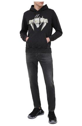 Мужской хлопковое худи DIESEL черного цвета, арт. A01822/0ADAM | Фото 2