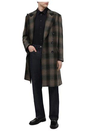 Мужская хлопковая рубашка DOLCE & GABBANA черного цвета, арт. G5EJ1Z/GE011 | Фото 2