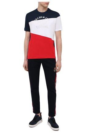 Мужская хлопковая футболка PAUL&SHARK разноцветного цвета, арт. 21411100/C00   Фото 2