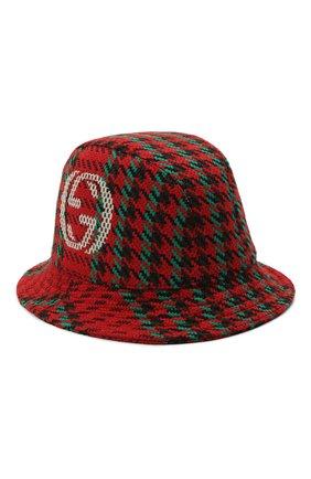 Мужская шерстяная панама GUCCI красного цвета, арт. 640876/4HABN | Фото 1