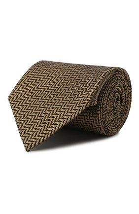 Мужской шелковый галстук TOM FORD золотого цвета, арт. 9TF34/XTF | Фото 1 (Материал: Текстиль, Шелк; Принт: С принтом)
