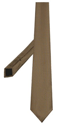 Мужской шелковый галстук TOM FORD золотого цвета, арт. 9TF34/XTF | Фото 2 (Материал: Текстиль, Шелк; Принт: С принтом)