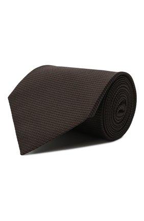Мужской шелковый галстук TOM FORD коричневого цвета, арт. 9TF07/XTF | Фото 1