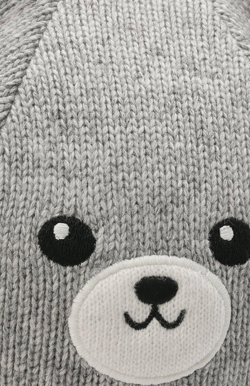 Детского шапка-балаклава CHOBI белого цвета, арт. WH-3034   Фото 3 (Материал: Текстиль, Шерсть, Вискоза)
