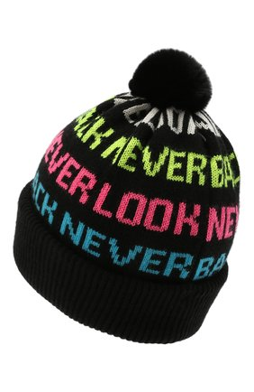 Детского шапка CHOBI черного цвета, арт. WH-3070   Фото 2