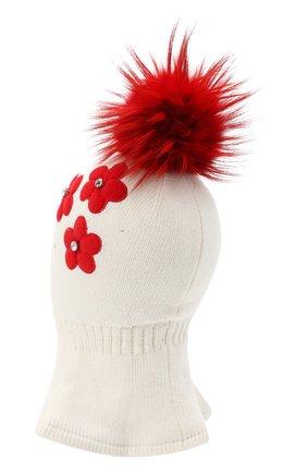 Детского шапка-балаклава CHOBI белого цвета, арт. WH-3052 | Фото 2