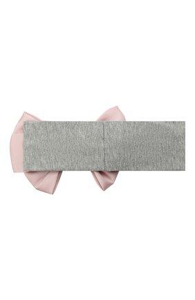 Детского повязка soft bow JUNEFEE серого цвета, арт. 6457   Фото 2