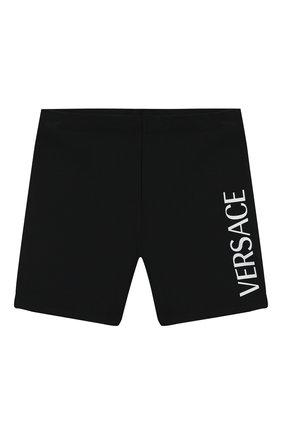 Детские плавки-шорты VERSACE черного цвета, арт. 1000041/1A00018/4A-6A | Фото 1
