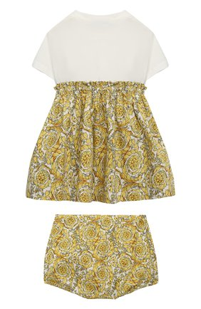 Женский комплект из платья и шорт VERSACE золотого цвета, арт. 1000292/1A00235 | Фото 2