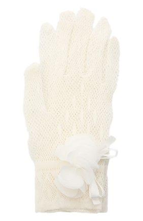 Детские перчатки ALETTA белого цвета, арт. AA1620GUA | Фото 1