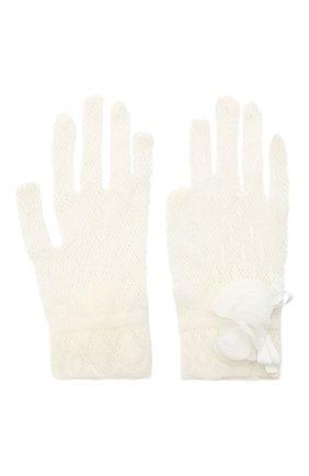 Детские перчатки ALETTA белого цвета, арт. AA1620GUA | Фото 2