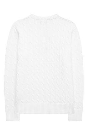 Детский хлопковый пуловер POLO RALPH LAUREN белого цвета, арт. 323702674 | Фото 2