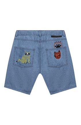 Детские джинсовые шорты STELLA MCCARTNEY синего цвета, арт. 602315/SQK16 | Фото 2