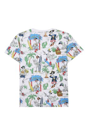 Детская хлопковая футболка STELLA MCCARTNEY разноцветного цвета, арт. 602241/SQJ67 | Фото 2