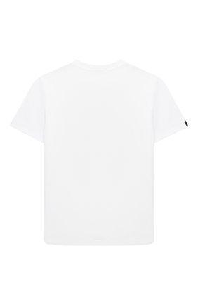 Детская хлопковая футболка MSGM KIDS белого цвета, арт. MS026833 | Фото 2