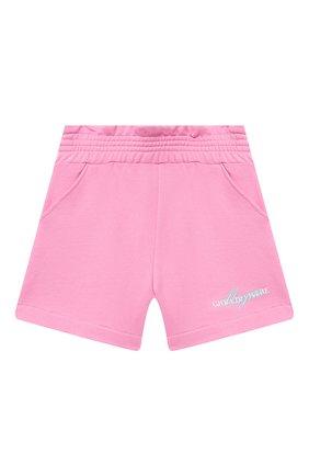 Детские хлопковые шорты MSGM KIDS розового цвета, арт. MS026835 | Фото 1