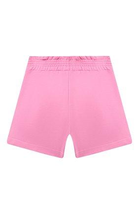 Детские хлопковые шорты MSGM KIDS розового цвета, арт. MS026835 | Фото 2