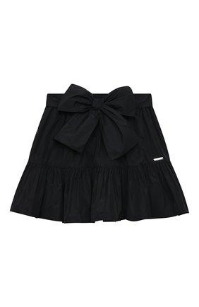 Детская юбка MSGM KIDS черного цвета, арт. MS026936 | Фото 1