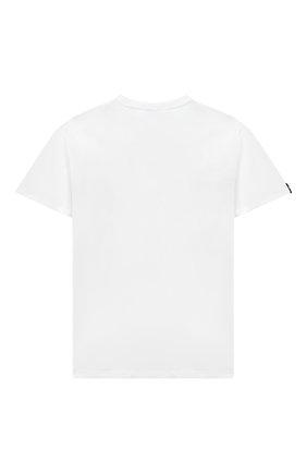 Детская хлопковая футболка MSGM KIDS белого цвета, арт. MS027389 | Фото 2