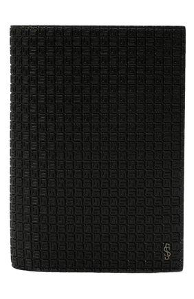 Мужской обложка для паспорта SERAPIAN черного цвета, арт. SRSTGMSL702610K | Фото 1