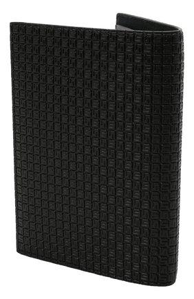 Мужской обложка для паспорта SERAPIAN черного цвета, арт. SRSTGMSL702610K | Фото 2