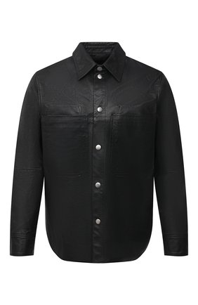Мужская кожаная рубашка DIESEL черного цвета, арт. A01577/0GBAW | Фото 1