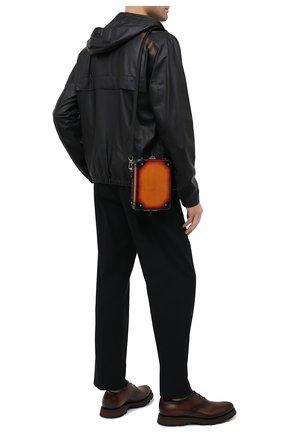 Мужская сумка BERLUTI оранжевого цвета, арт. M222257 | Фото 2