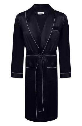 Мужской шелковый халат ZIMMERLI темно-синего цвета, арт. 6000-75131 | Фото 1