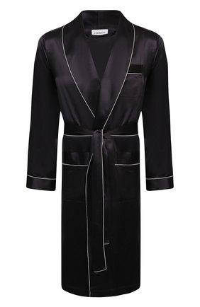 Мужской шелковый халат ZIMMERLI темно-серого цвета, арт. 6000-75131 | Фото 1