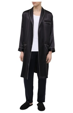 Мужской шелковый халат ZIMMERLI темно-серого цвета, арт. 6000-75131 | Фото 2