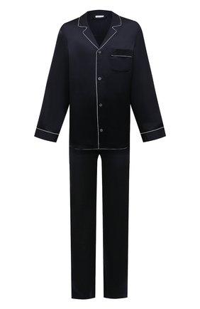 Мужская шелковая пижама ZIMMERLI темно-синего цвета, арт. 6000-75130 | Фото 1