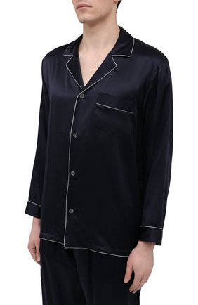 Мужская шелковая пижама ZIMMERLI темно-синего цвета, арт. 6000-75130 | Фото 2