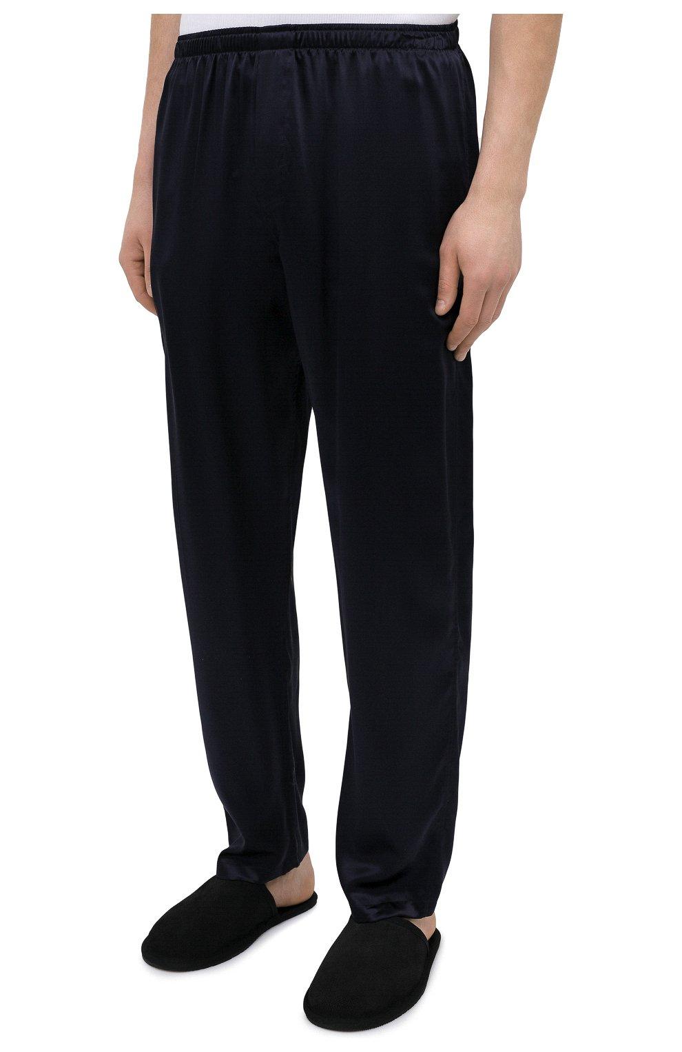 Мужская шелковая пижама ZIMMERLI темно-синего цвета, арт. 6000-75130   Фото 5 (Материал внешний: Шелк; Рукава: Длинные; Длина (брюки, джинсы): Стандартные; Кросс-КТ: домашняя одежда; Длина (для топов): Стандартные)