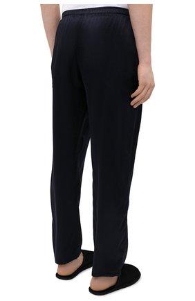 Мужская шелковая пижама ZIMMERLI темно-синего цвета, арт. 6000-75130   Фото 6 (Материал внешний: Шелк; Рукава: Длинные; Длина (брюки, джинсы): Стандартные; Кросс-КТ: домашняя одежда; Длина (для топов): Стандартные)