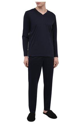 Мужские хлопковые домашние брюки ZIMMERLI темно-синего цвета, арт. 3460-95304 | Фото 2