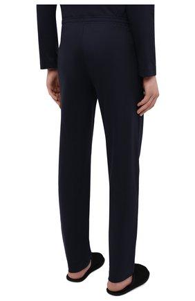 Мужские хлопковые домашние брюки ZIMMERLI темно-синего цвета, арт. 3460-95304 | Фото 4 (Длина (брюки, джинсы): Стандартные; Кросс-КТ: домашняя одежда; Мужское Кросс-КТ: Брюки-белье; Материал внешний: Хлопок)